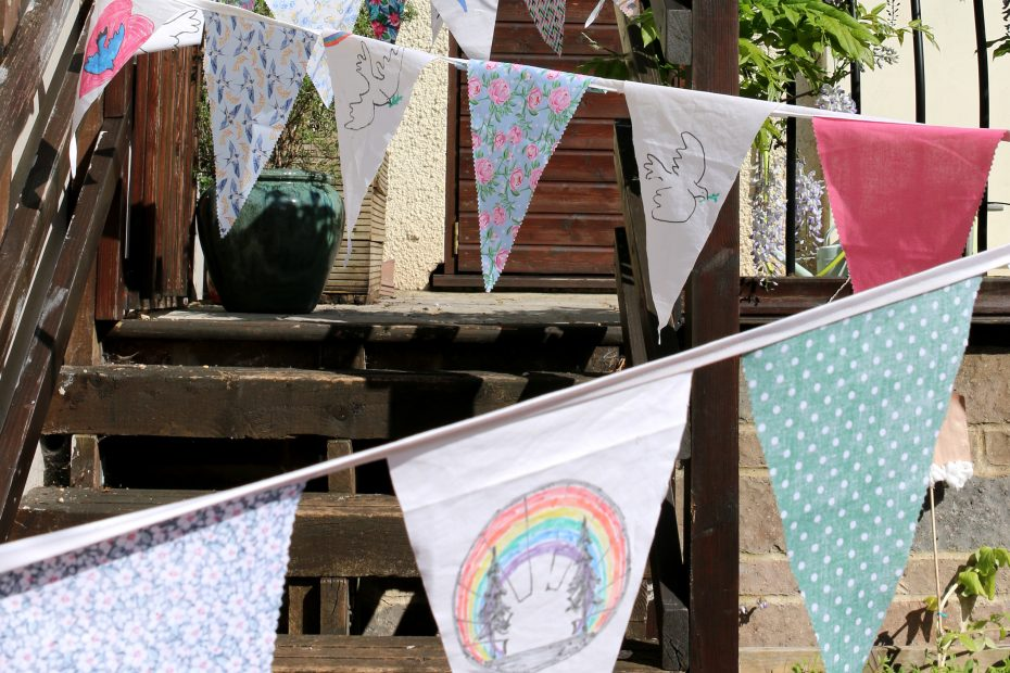 bunting with peace images