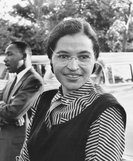 Rosa Parks — back of the bus