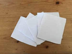 Sheets of paper all cut to same size
