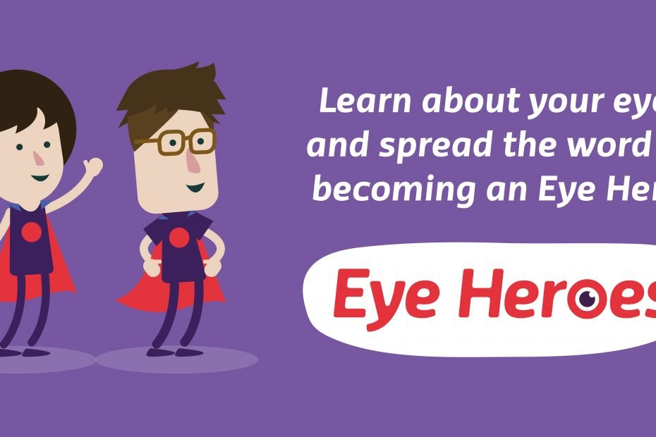Eye Heroes Logo and text about sight loss