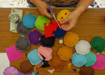 educational activities - hand stitched felt circles